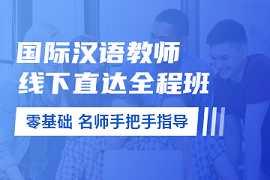 对外汉语教师证书面授课程